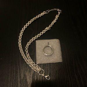 Origami Owl Locket & Necklace